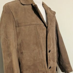 b5e57e242 Vintage Sears Suede leather jacket brown Size 40
